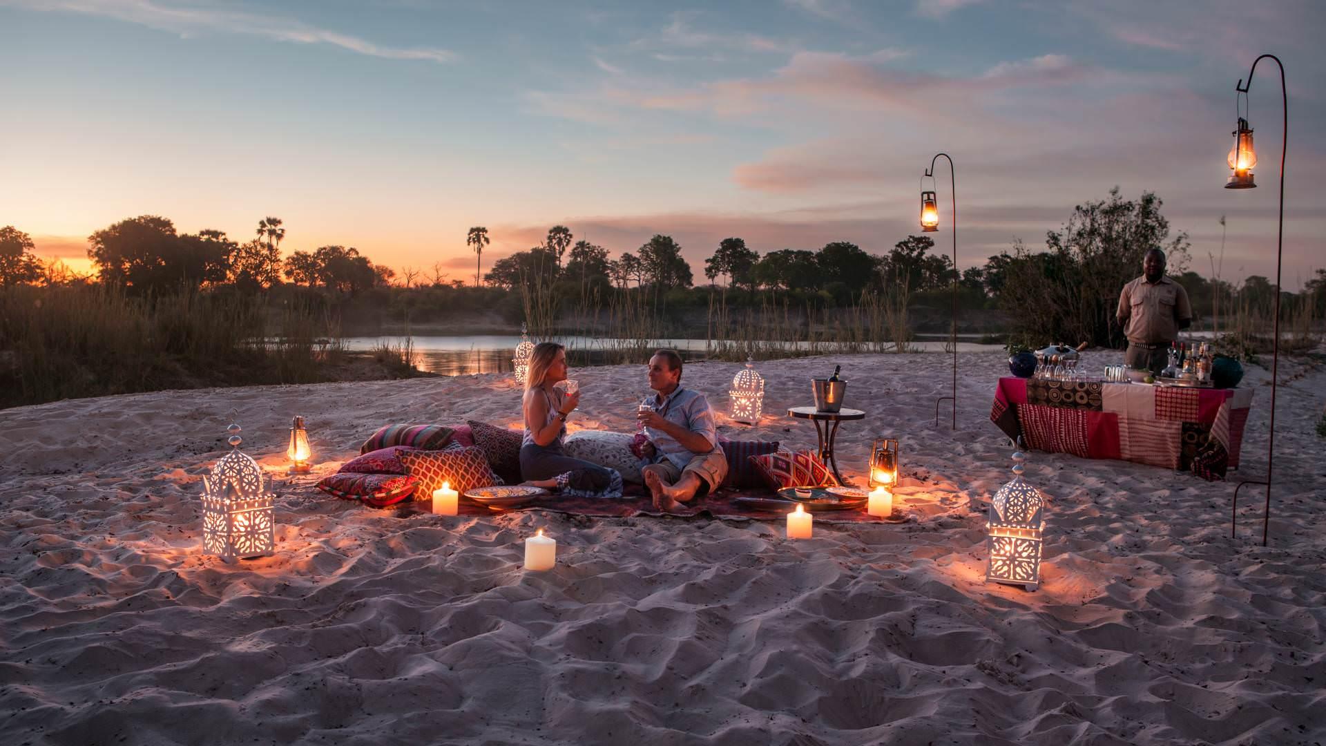 Livingstone island sandbar